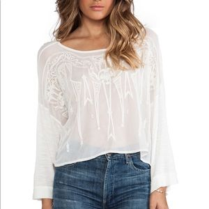 Freepeople Pandora's embroidered top